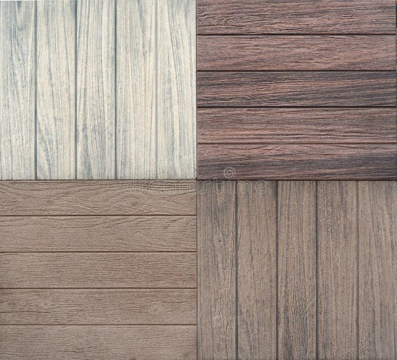 De tegels van het porseleinsteengoed met houten effect Steekproeven voor binnenland of buitenkant stock afbeelding