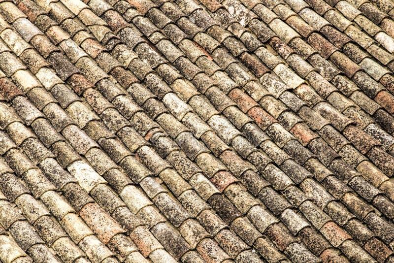 De tegels van het terracottadak royalty-vrije stock foto's