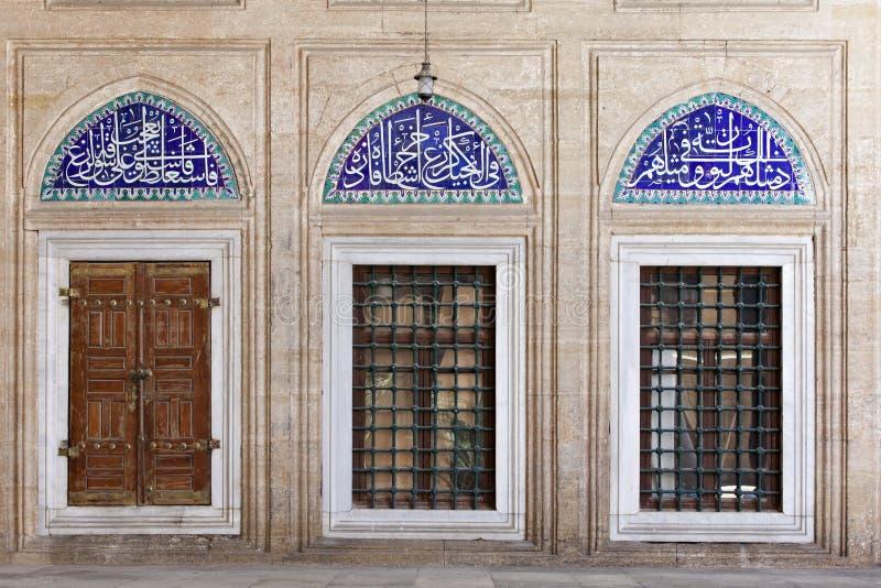De Tegels van Iznik in Moskee Selimiye stock afbeelding