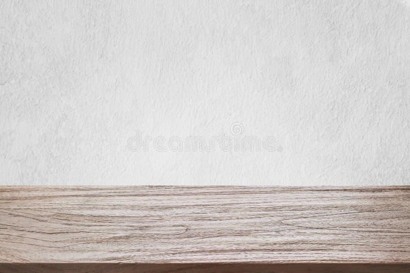 De tegenbovenkant, muur en van de vloer witte muur houten van de de textuurnevel van de groef verticale lijn witte kleur met brui stock foto's