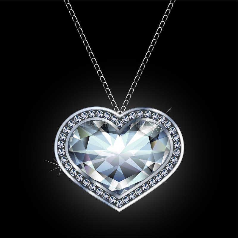 De tegenhanger van de diamant stock illustratie