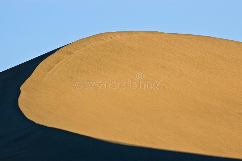 De tegenover elkaar stellende Rand van het Duin van het Zand royalty-vrije stock afbeeldingen