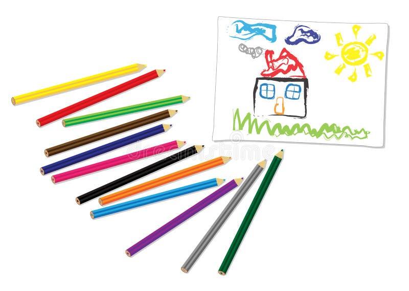 De tekening van Childs stock illustratie