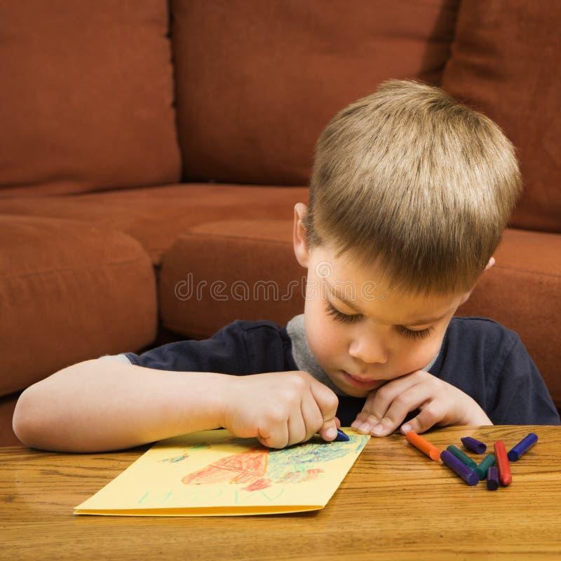 De tekening van de jongen. royalty-vrije stock fotografie