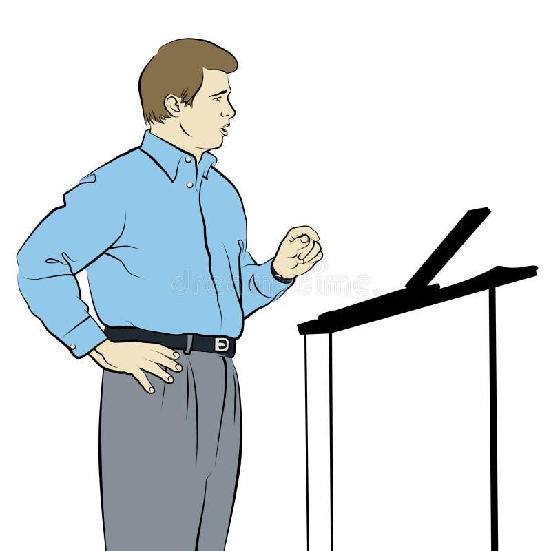 De Tekening van de spreker stock illustratie