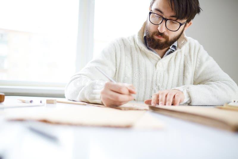 De tekening van de mens stock afbeeldingen