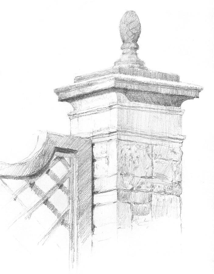 De Tekening van de poort royalty-vrije stock fotografie