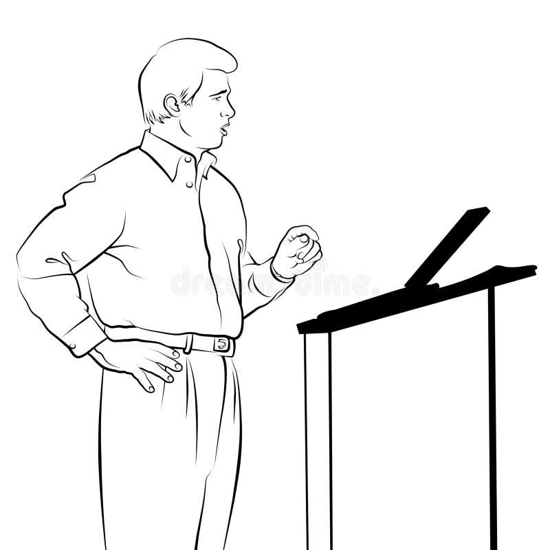 De Tekening van de spreker royalty-vrije illustratie