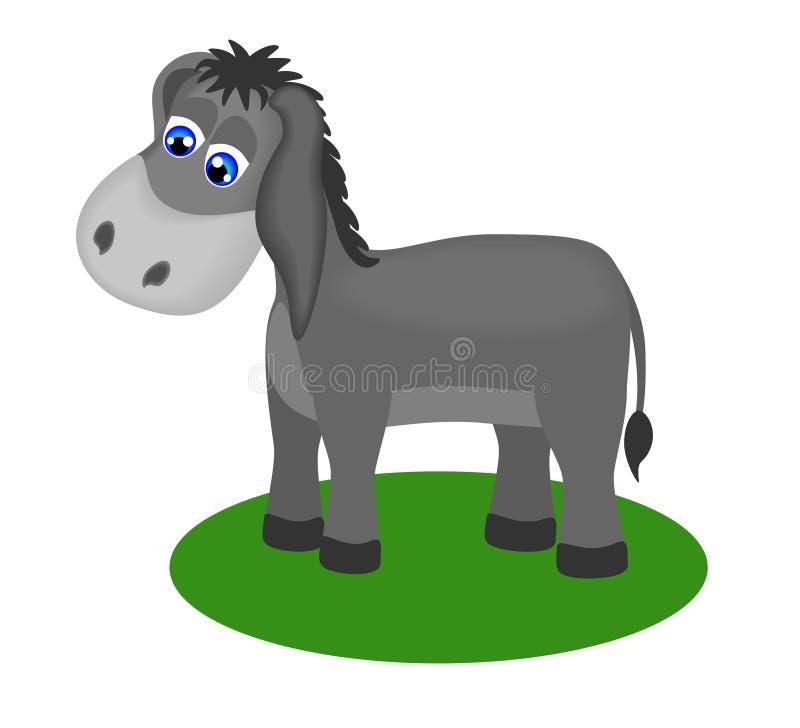 De tekening van Fanny van droevige ezel stock illustratie