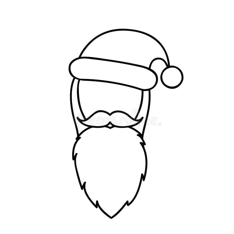 De tekening van de het gezichtslijn van Kerstmissanta claus royalty-vrije illustratie