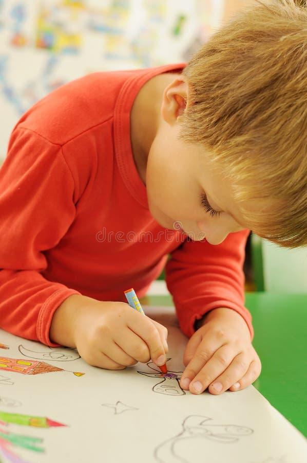 De tekening van het kind stock afbeelding