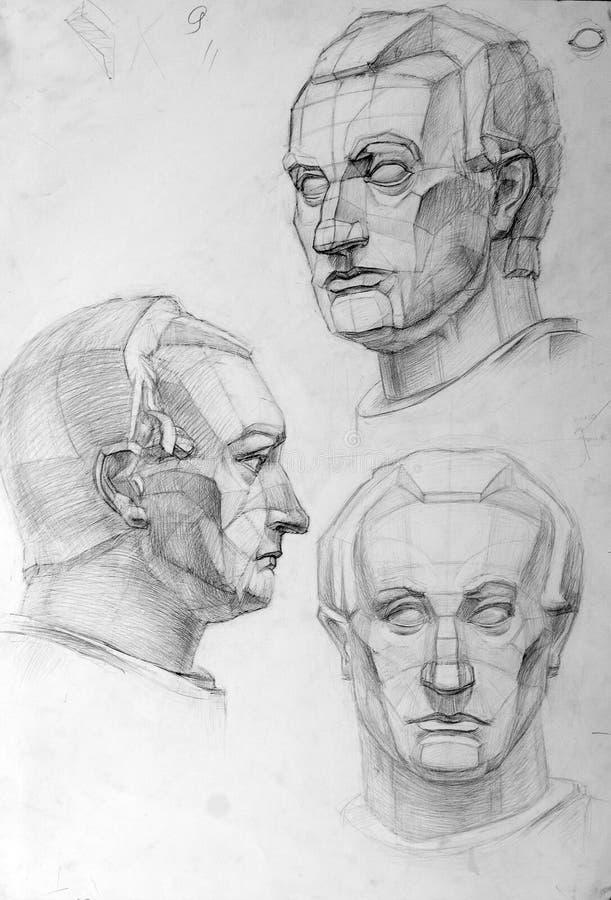 De tekening van het portret. vector illustratie