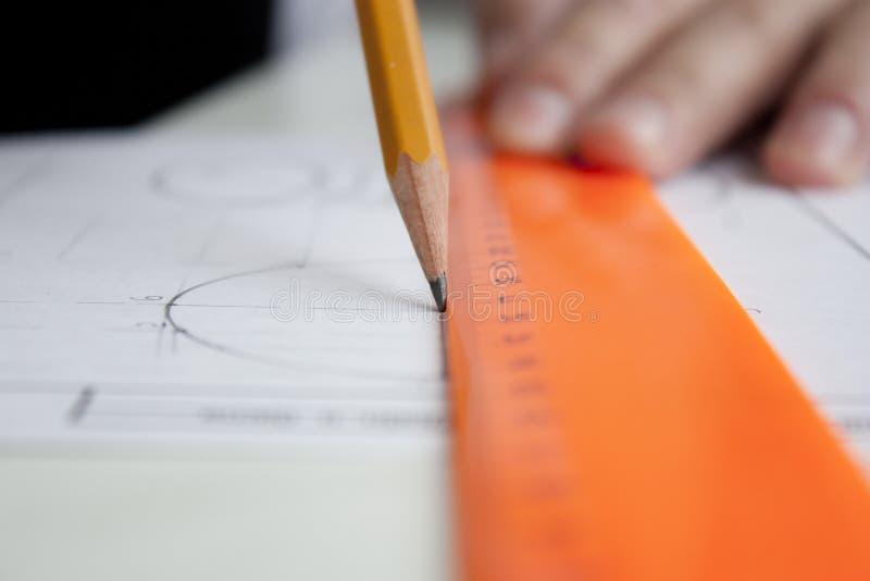 De tekening van het project stock fotografie