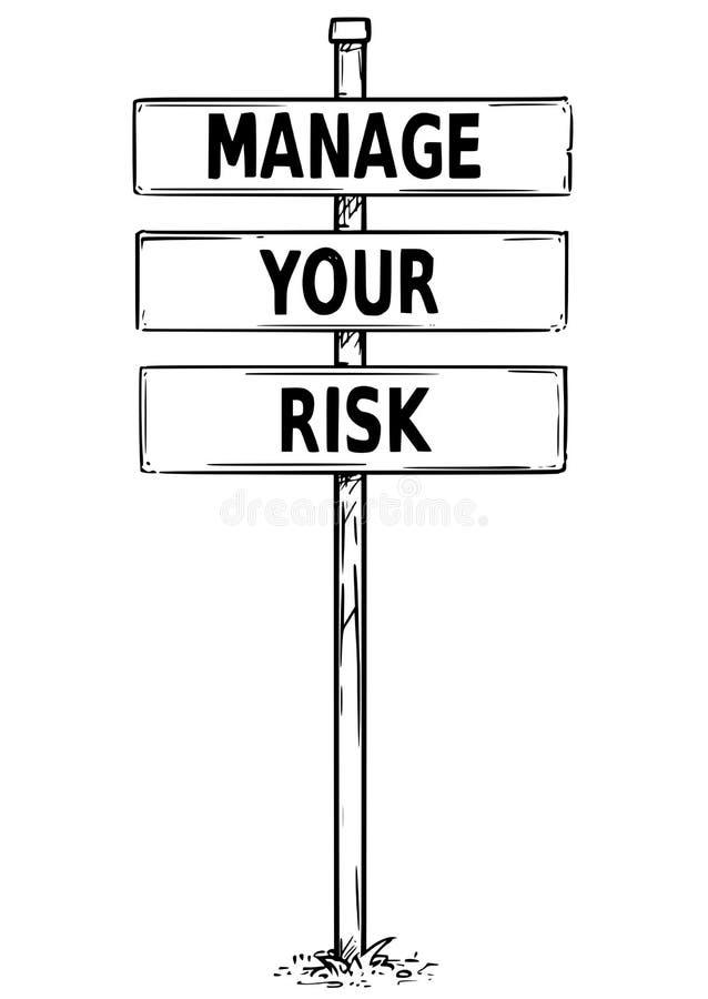 De tekening van Tekenraad met leidt Uw Risicotekst vector illustratie