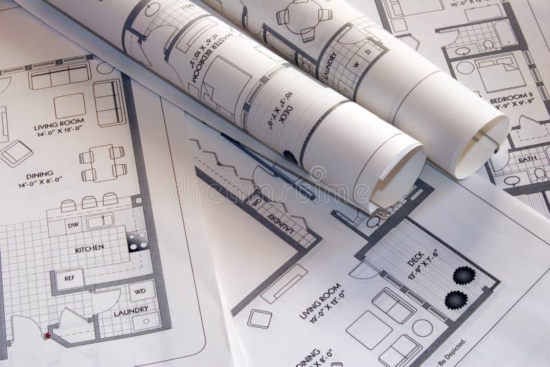 Download De tekeningen van het plan stock afbeelding. Afbeelding bestaande uit vloer - 275427