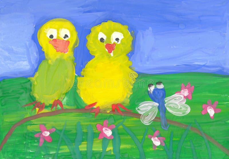 De tekeningen van kinderen stock illustratie