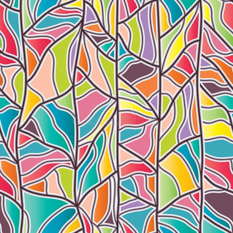 De tekenings naadloos patroon van de takjelijn vector illustratie