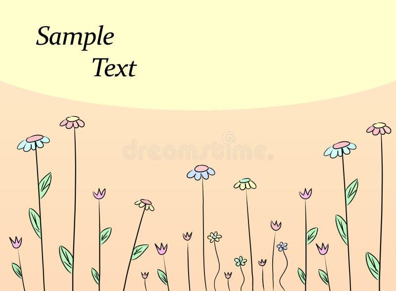 De tekeningsachtergrond van de bloem royalty-vrije illustratie