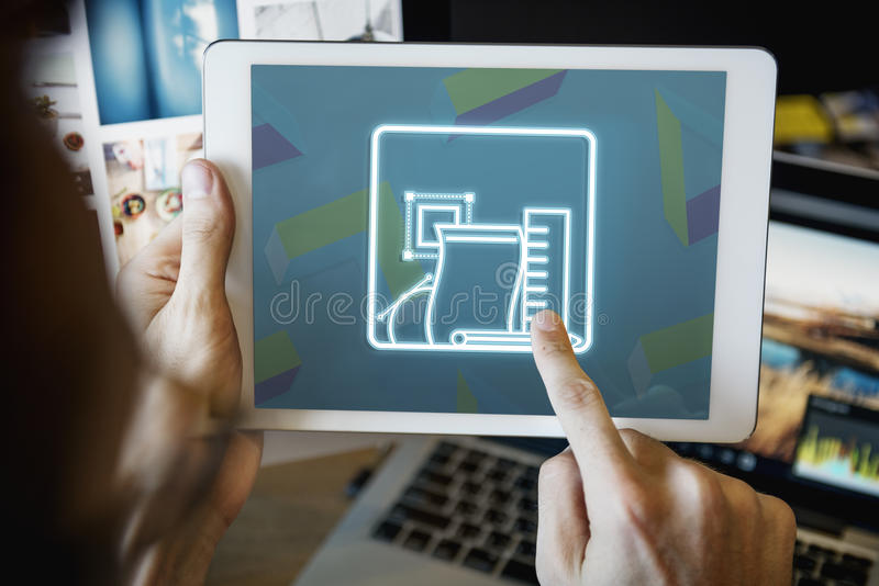 De Tekeningsschets van het ontwerp Creatief Ontwerp Planningsconcept royalty-vrije stock afbeelding