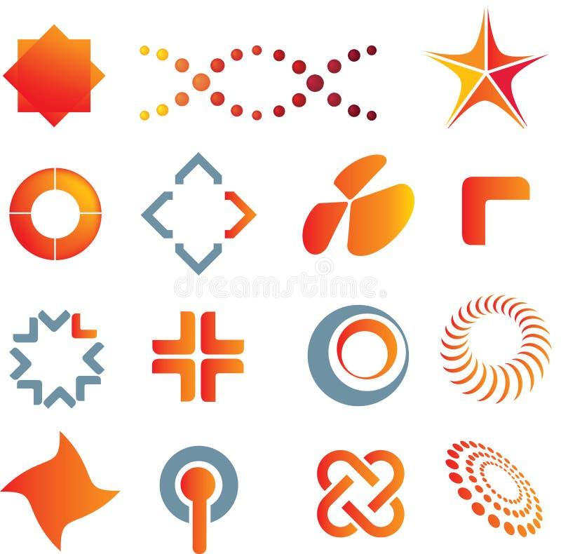 De tekens en de symbolen van het embleem vector illustratie