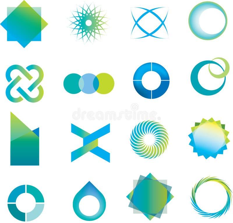 De tekens en de symbolen van het embleem royalty-vrije illustratie