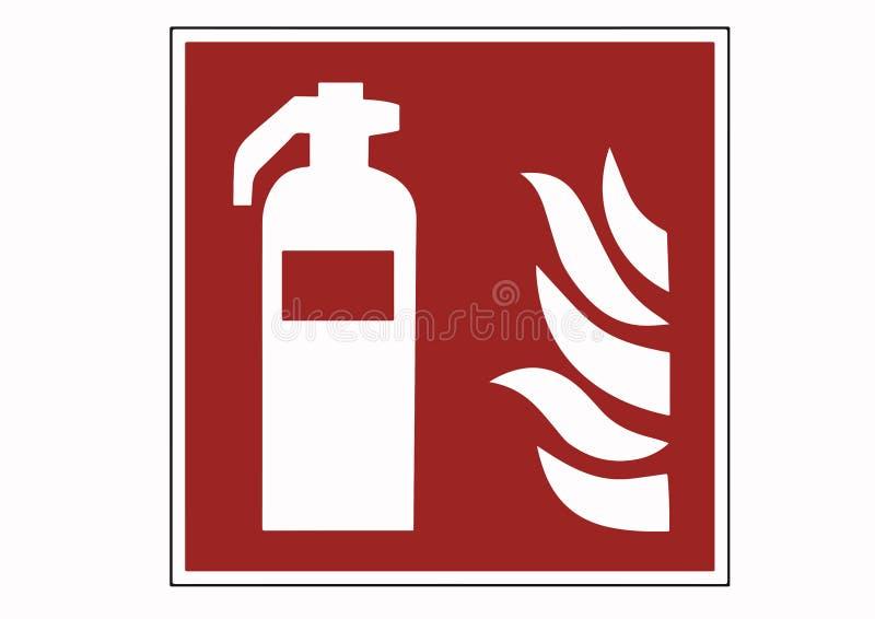 De tekens van de brandblusapparaatbescherming - brandblusapparaatpictogra stock illustratie