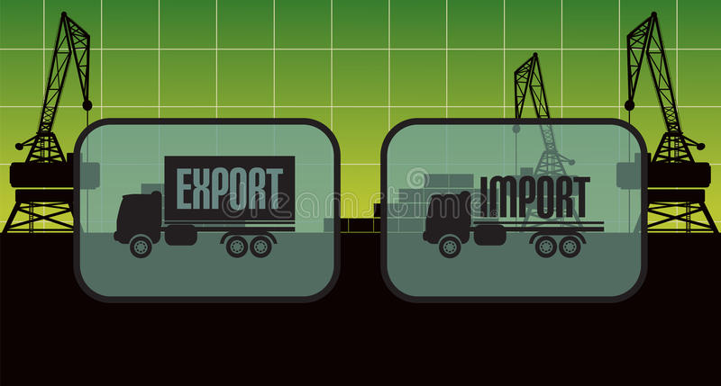 De tekens van de de uitvoerinvoer, symbolen stock illustratie