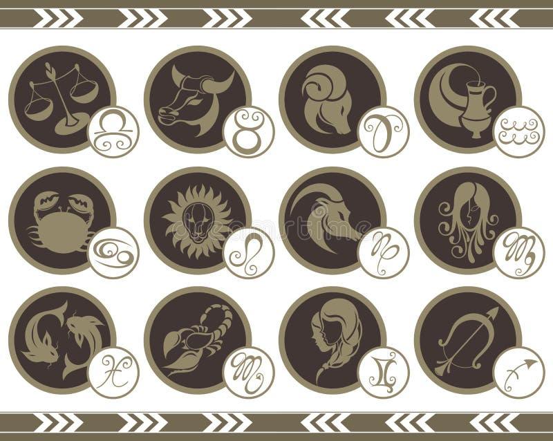 De tekens van de dierenriem royalty-vrije illustratie