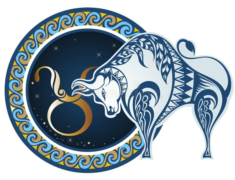 De tekens van de dierenriem - Stier royalty-vrije illustratie