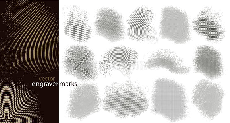 De tekens van de graveur (vector) royalty-vrije illustratie