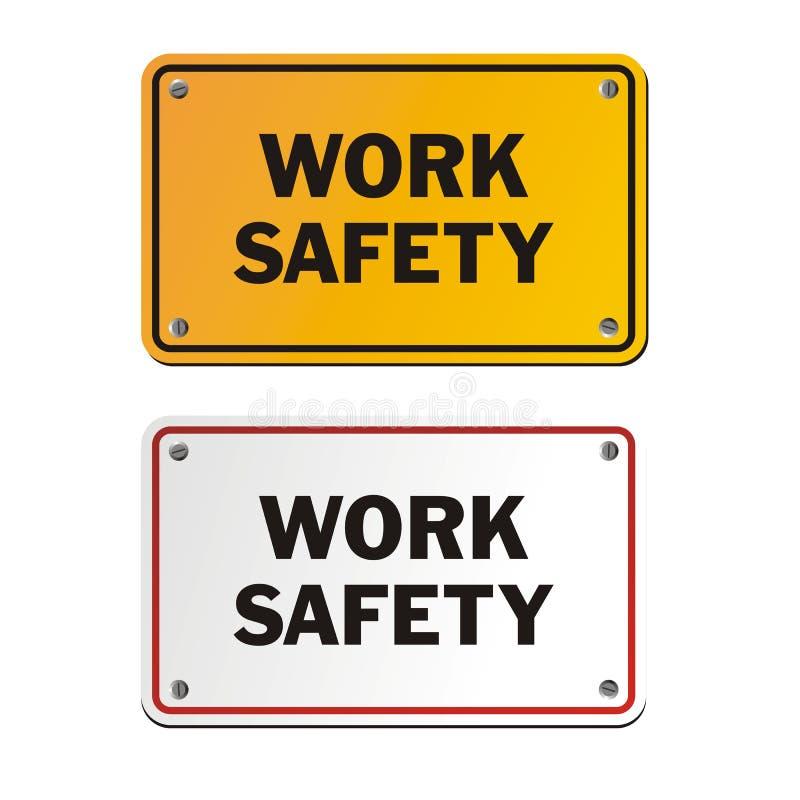De tekens van de het werkveiligheid stock illustratie