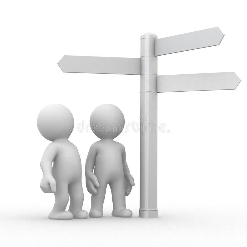 De tekens van de keus en van richtingen vector illustratie