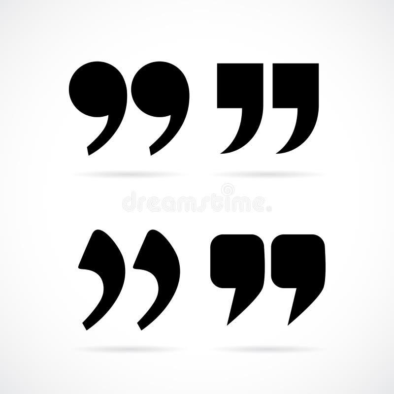 De tekens van de komma'stoespraak royalty-vrije illustratie