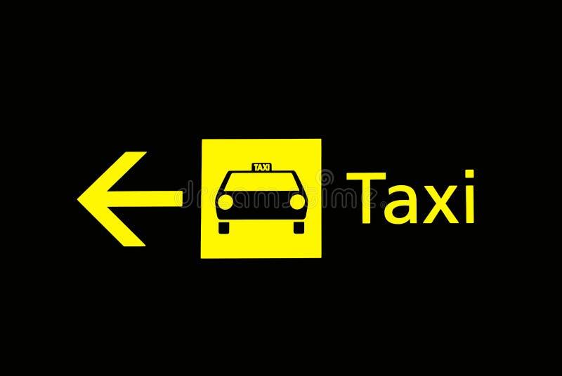 De tekens van de luchthaven - taxi stock foto's