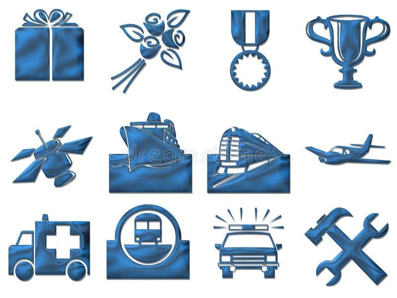 De tekens van de reis vector illustratie