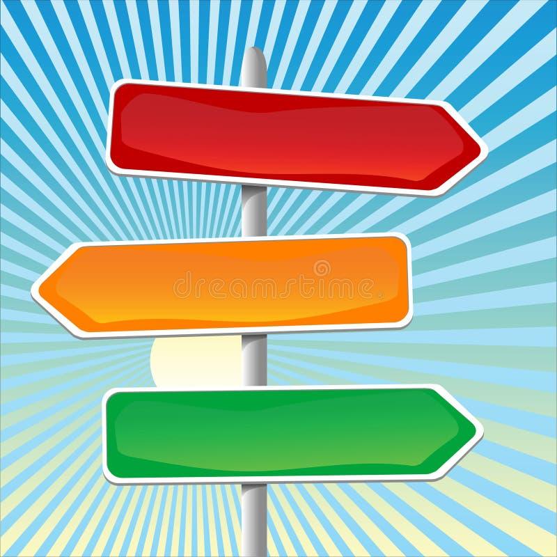 De Tekens van de richting royalty-vrije illustratie