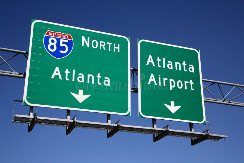 De Tekens van de Snelweg van Atlanta stock afbeelding