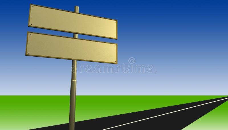 De tekens van de straat royalty-vrije illustratie