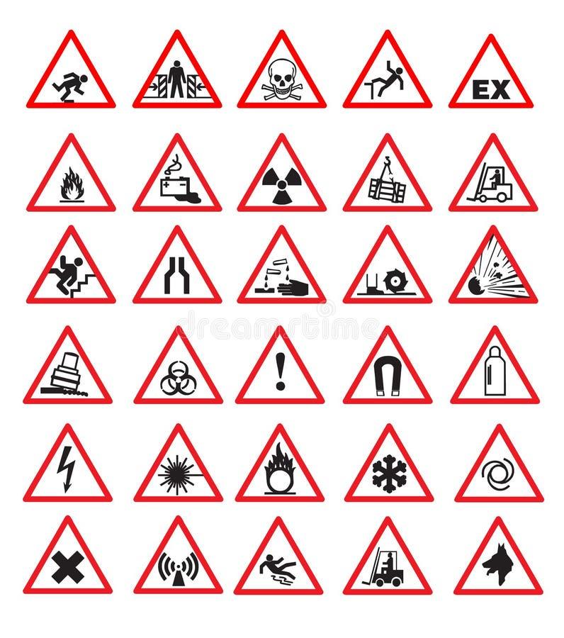 Veiligheidstekens stock illustratie