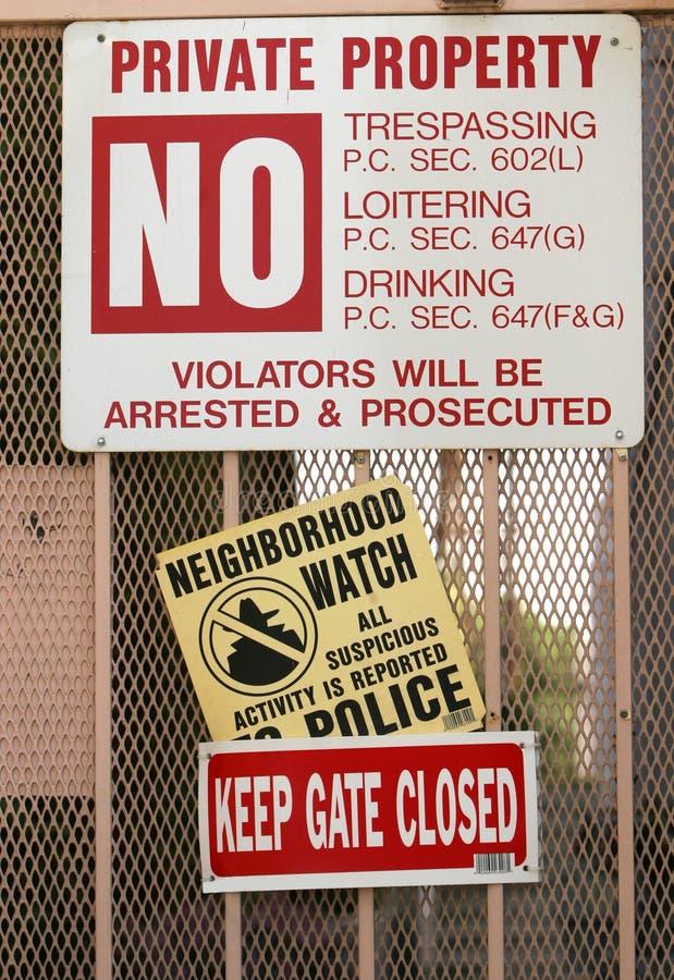 De Tekens van de veiligheid stock foto