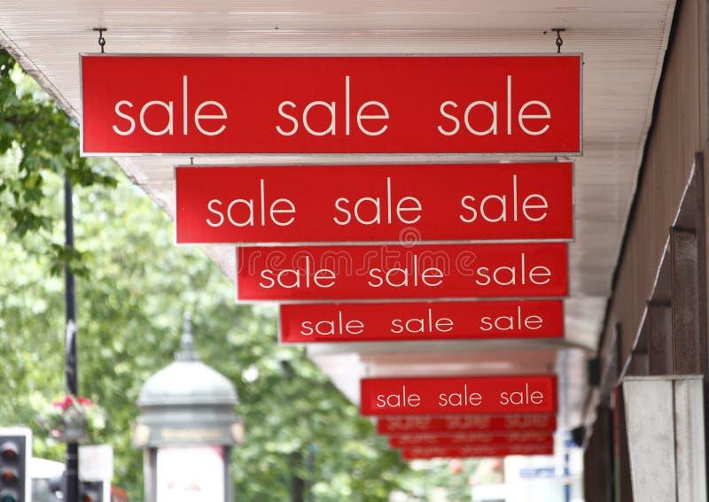 De tekens van de verkoop stock fotografie