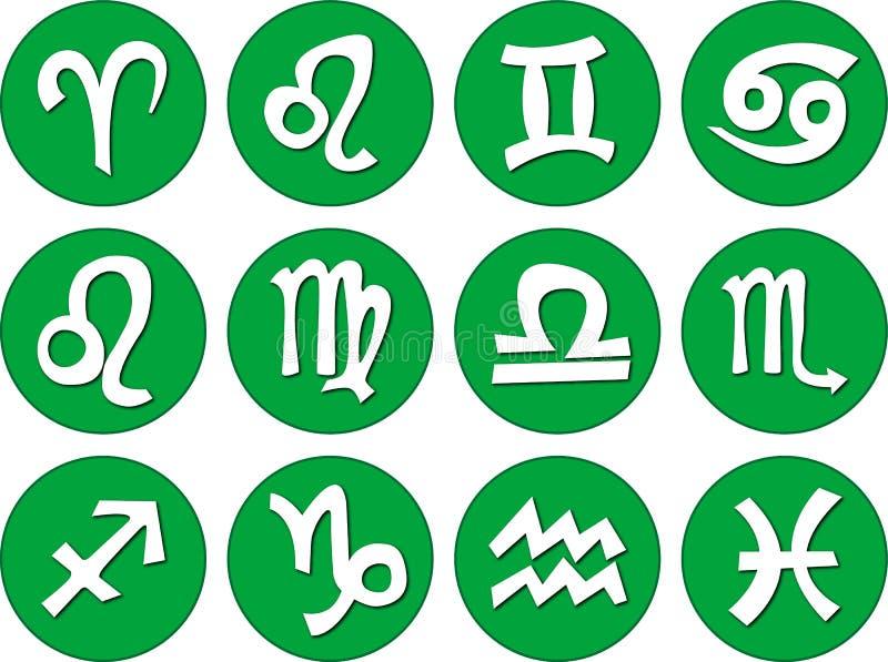 De tekens van de dierenriem vector illustratie