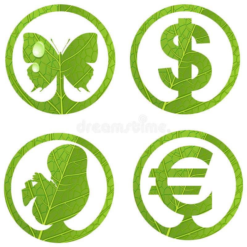 De tekens van Eco. Reeks 3. vector illustratie