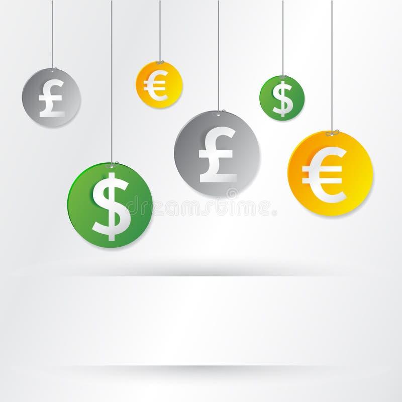 Download De tekens van het geld vector illustratie. Illustratie bestaande uit hanging - 29503002