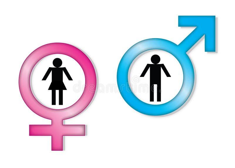 De tekens van het geslacht vector illustratie