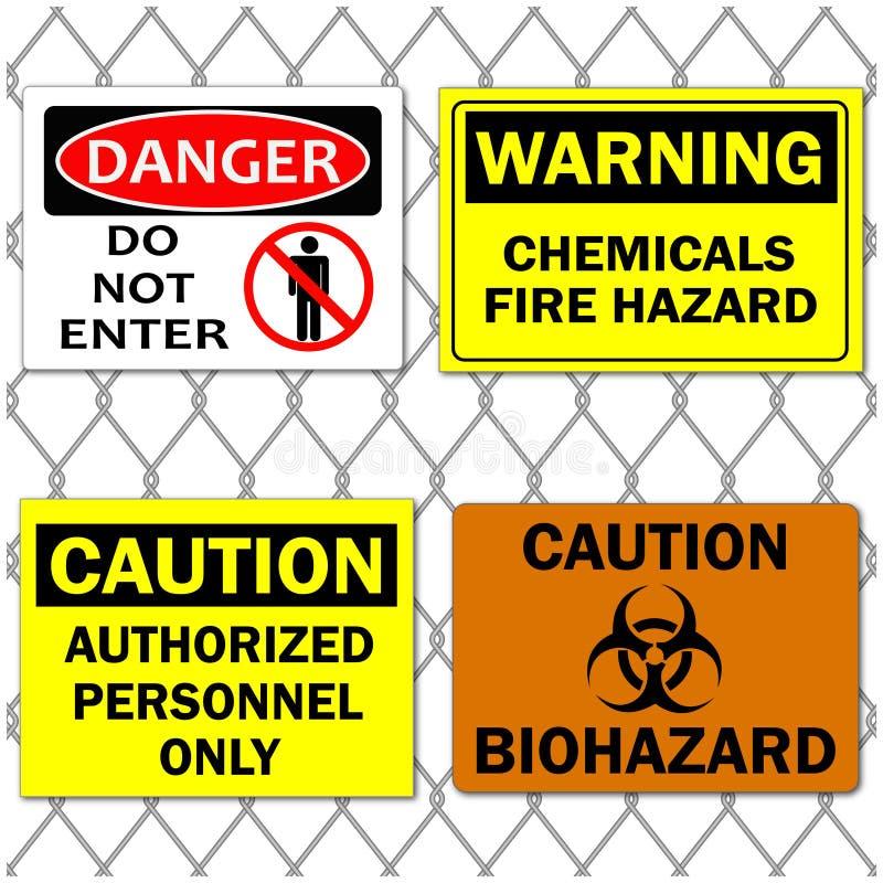 De Tekens van het gevaar stock illustratie