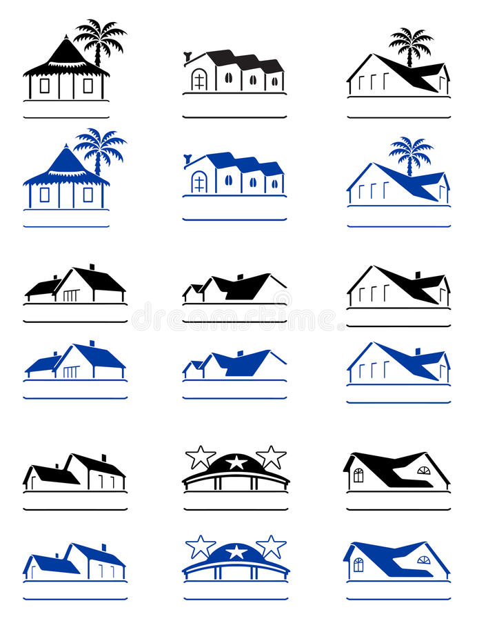 De tekens van het huis vector illustratie