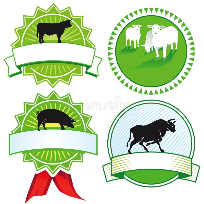 De Tekens Van Het Landbouwbedrijfdier Stock Afbeelding