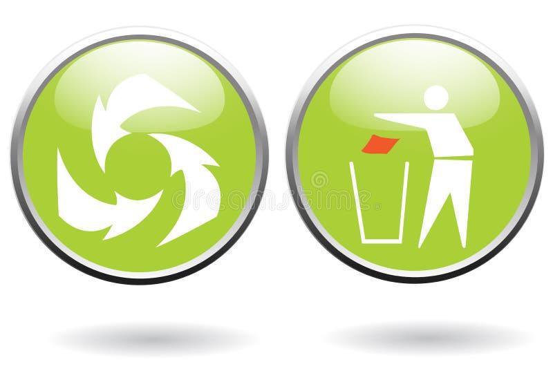 De tekens van het recycling vector illustratie