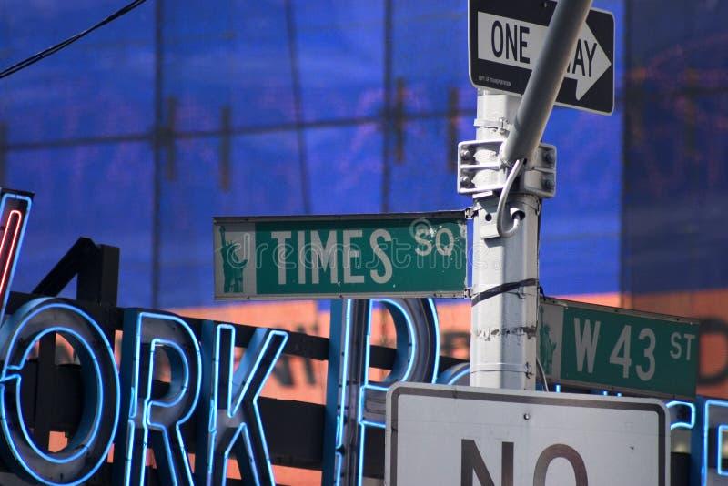 De Tekens van het Times Square stock afbeeldingen